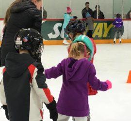 #LearntoSkate Class full of kids skating.