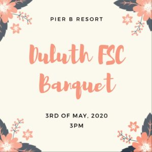 DFSC Spring Banquet is May 3rd at Pier B Resort at 3 PM. Tickets are $25 a person.