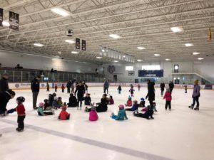 A learn to skate class hosted by Duluth Figure Skating Club.